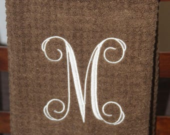 Hand Towel, Monogrammed Towel, Embellished Towel, Embroidered Towel, decorated towels,