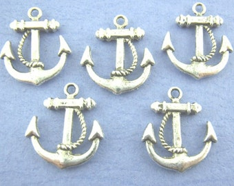 Silver anchor, jewelry - pendant, charm, 23 mm, multiple sets can be selected