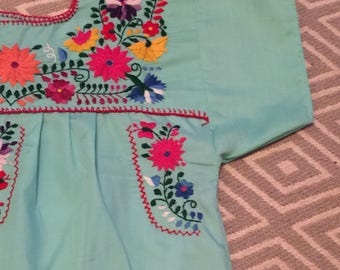 Mama mexican dress SMALL/mexican embroidred dress (long)