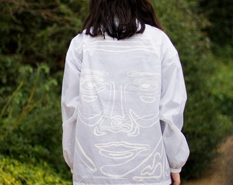 Hand Painted Face Windbreaker