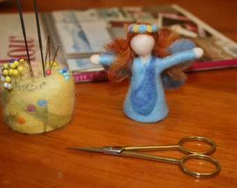 Needle Felted BLUE FAIRY