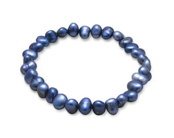 PEARLY Cultured Freshwater Pearl Stretchy Bracelet