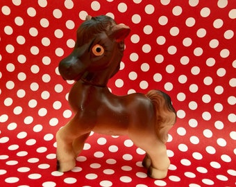 Rubber Squeak Horse Pony Toy, Squeaky Toy, Horse Collectible