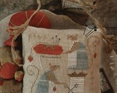 Primitive Cross Stitch Pattern - Mice in the Sewing Room - Choose Pattern Only or Pattern w/Floss Kit