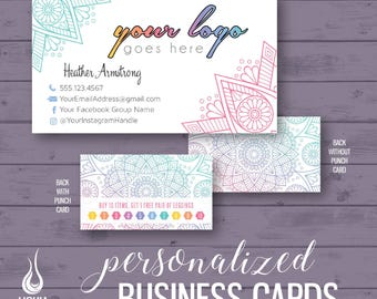 Business cards, digital business cards, printed business cards, punch cards, consultant business cards, home office, fashion consultant
