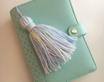 Soft Pastel Yarn Tassel Keychain / Planner Accessory