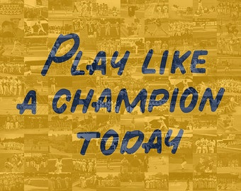Play Like A Champion Today Photo Mosaic Collage - Notre Dame