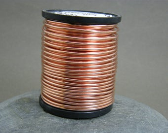 Copper wire ~ 1.6 mm gauge bare copper wire ~ Antique copper wire ~ 16g copper wire ~ Jewellery supplies ~ Wire wrapping ~ Jewelry wire ~ UK