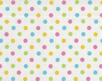 Cosmo Textiles Sweet Quarter Inch Pastel Polka Dot