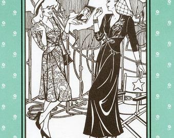 Folkwear Glamour Girl Dress in 3 Lengths sizes 6-16 Sewing Pattern # 233 Retro 1940s
