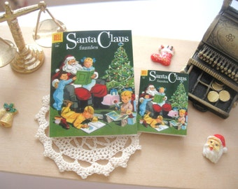 dollhouse comic christmas santa claus vintage inspired 12th scale or playscale lakeland artist Rainbowminiatures