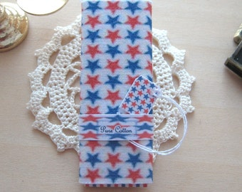 dollhouse  fabric bolt sewing patriotic stars  12th scale  miniature
