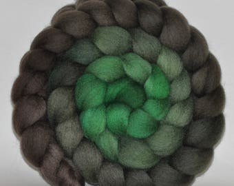Blue Face Leicester   Hand Painted Roving  5.04 ounces - The Language of Trees   combed top