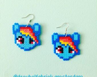My Little Pony Rainbowdash earrings