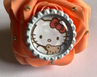 Orange hello kitty hair clip