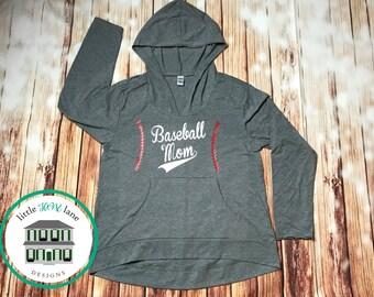 Baseball Mom Hoodie | Baseball Mom Shirt | Women's Hoodie | Hoodie with Pocket | Baseball Shirt | Baseball Mom Tee | Lightweight Hoodie