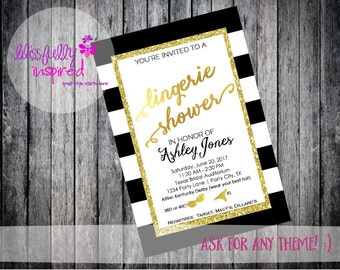 Lingerie Shower | Bachelorette Party | Bride to Be | Bridal Shower | Wedding Shower - 2 OPTIONS