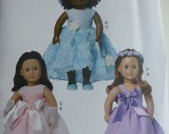 """Butterick 6431 - American Girl - 18"""" Doll Clothes pattern - new release"""