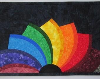 Art Quilt Embracing Diversity, Wall Hanging, Modern Art Quilt