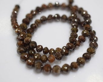 111 ct very beautiful Natural Red Sand Color Diamond Faceted 4.50 to 6.50 mm, Real Diamond Beads Necklace 16 inch strand