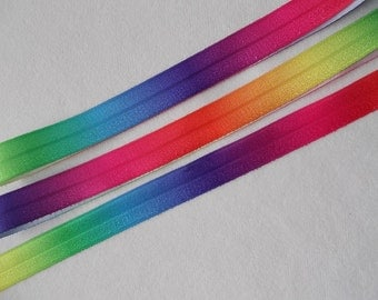 Rainbow Tie dye printed…FOE elastic ribbon is used for making Headbands, Wrist ties, Hair ties, Sewing, Crafts and many other creative uses.