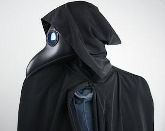 Plague Doctor Mask Steampunk Black Cosplay Larp Cyberpunk