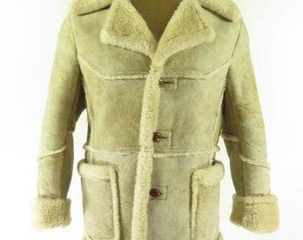 mens shearling coat – Etsy