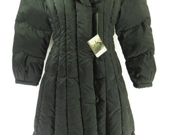 Vintage 70s Down Overcoat Womens L Deadstock Fox Run Two Quilted Puffy [H67P_2-10_Long]