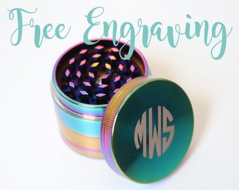 Groomsmen Gifts Custom Herb Grinders Engraved Grinders Personalized Herb Grinders Groomsman Gift Gifts for Him Metal Rainbow Herb Grinder