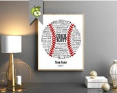 Baseball coach, Appreciation gift, PE Phyical education, phys ed, Coach team, typography BaseBall, DIY Printable, Digital file, BB1