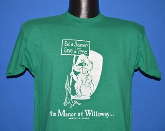 80s Eat A Beaver Save a Tree t-shirt Medium