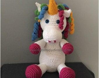 Crocheted Unicorn Stuffed Animal
