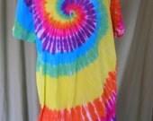 Jersey tie-dye V-neck coverup large/Xlarge