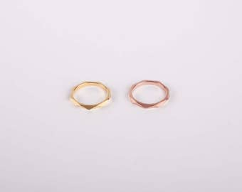 Golden Ring Gold Plated  Fine Golden Ring Rosegolden Ring