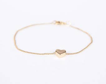 Bracelet Gold Heart Love Chain Plated Hearts Gold Plated Bracelet Chain Gold Plated