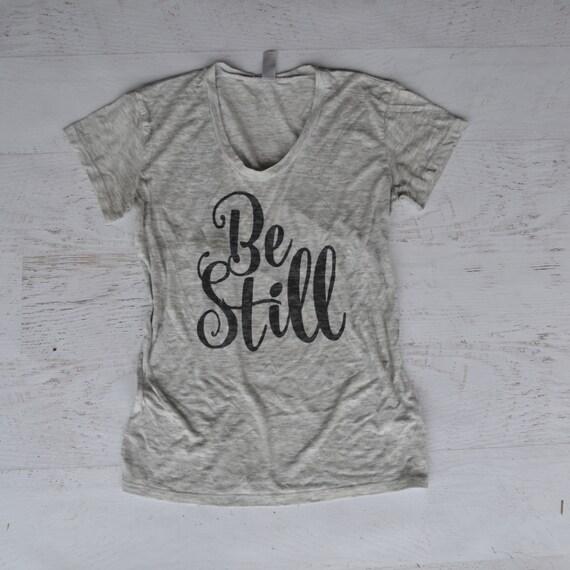 Be Still Women's Tee - black/light gray