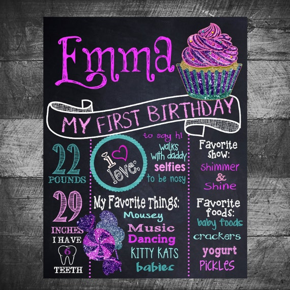 cupcake first birthday board sweet chalkboard birthday sign