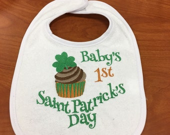 Baby's 1st Saint Patricks Day bib