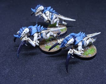Tyranid Hormagaunt. Hive Fleet Nemesis combat insects for Warhammer 40,000. Hand Painted Miniature from Games Workshop