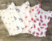 Baby girl top, baby girl clothes, girls organic top, baby flutter sleeve top, flutter sleeve top, organic baby clothes, baby shirt