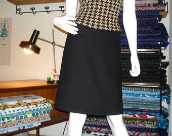 Rock wool rock winter rock black ladies skirt black wool skirt winter skirt women's skirt