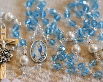 Catholic Swarovski Assumption and Fatima Rosary