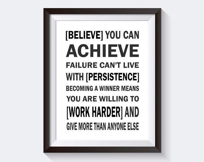 Believe Motivational Poster Print