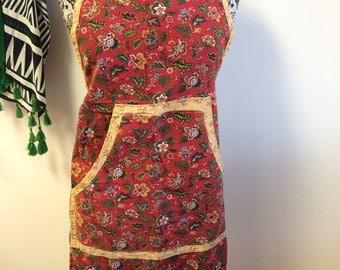Vintage red apron.