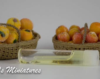 Large Baskets of Peaches; Realistic Scented Peaches; 1:12 Scale; Dollhouse Food