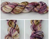 Merino Worsted - Hand dyed yarn - {Sultry} purple, blue, pink, mauve, brown, tan speckled, speckled sock yarn, speckled yarn, hand speckled
