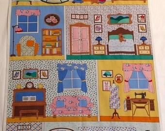 Dollhouse Play Mat, Roll Up Dollhouse, Portable Soft Dollhouse, Dollhouse Fold Up Play Mat