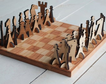 Chess Board Set Solid Wood