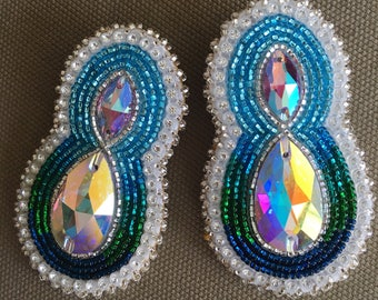 Beaded Natural Earth Earrings