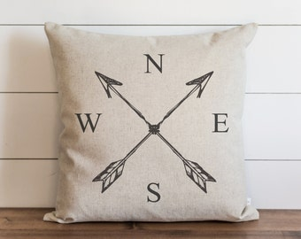 NESW 20 x 20 Pillow Cover // Everyday // Throw Pillow // Gift // Accent // Cushion Cover
